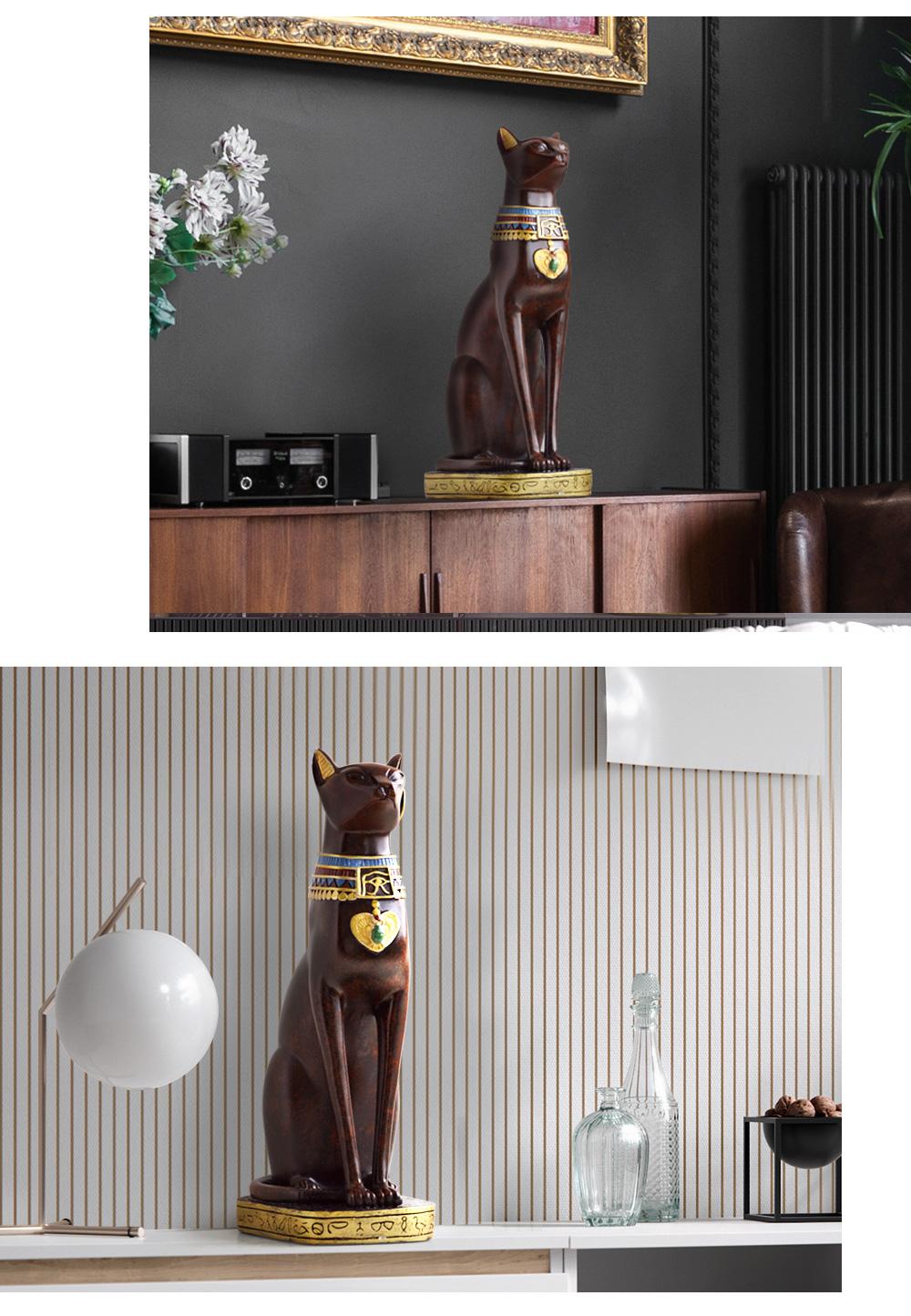 Egyptian Cat resin craft vintage home decor Modern Vintage