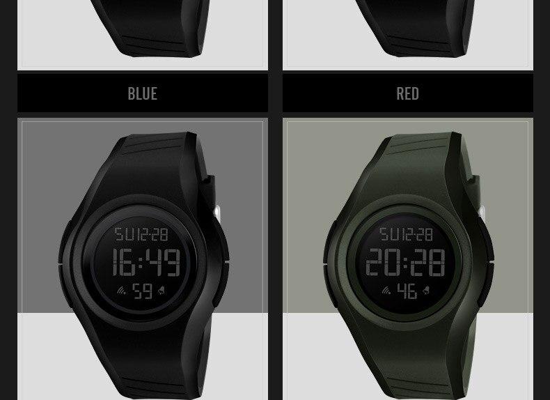 LED Digital Cute Jelly Electronic Waterproof Wristwatch