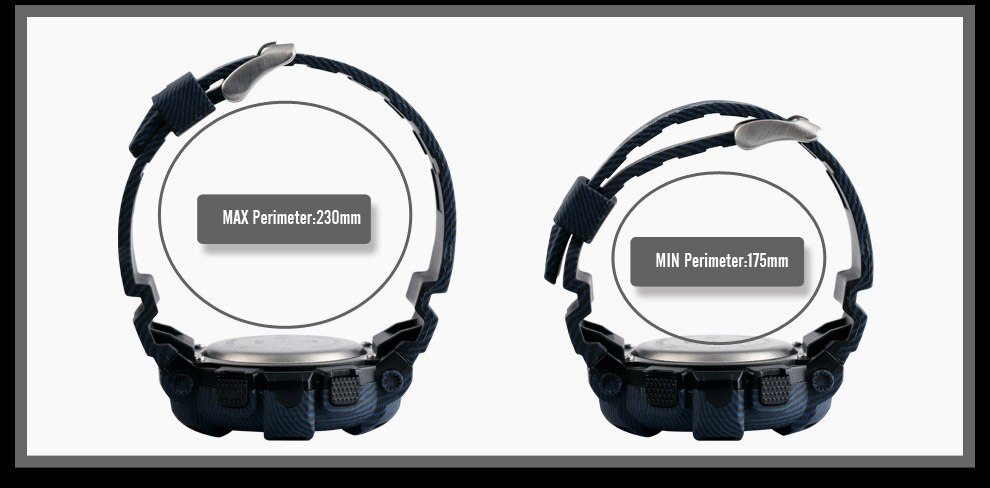 Men's Green Light Display Digital Multifunctional Waterproof