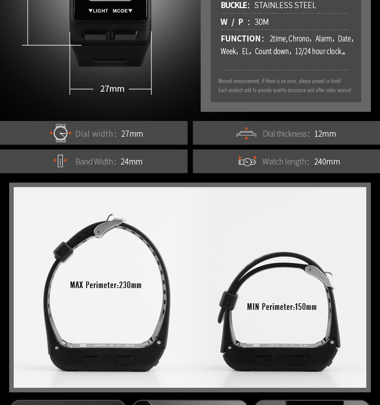 Rectangle Design Sports LED Display Digital Waterproof