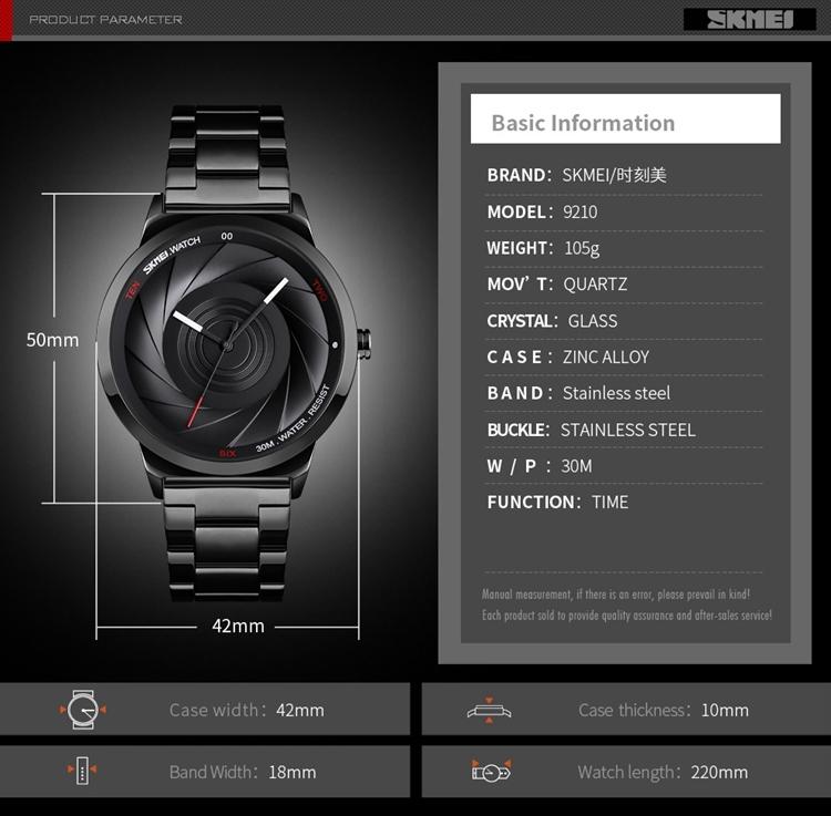Men's Luxury Full Steel Casual Waterproof Watches