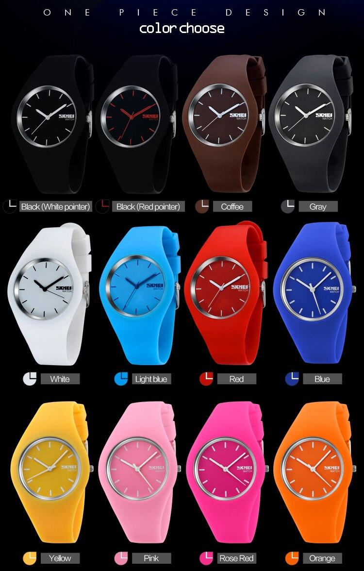 Silicone Strap 3Bar Waterproof Quartz Wristwatches For Women