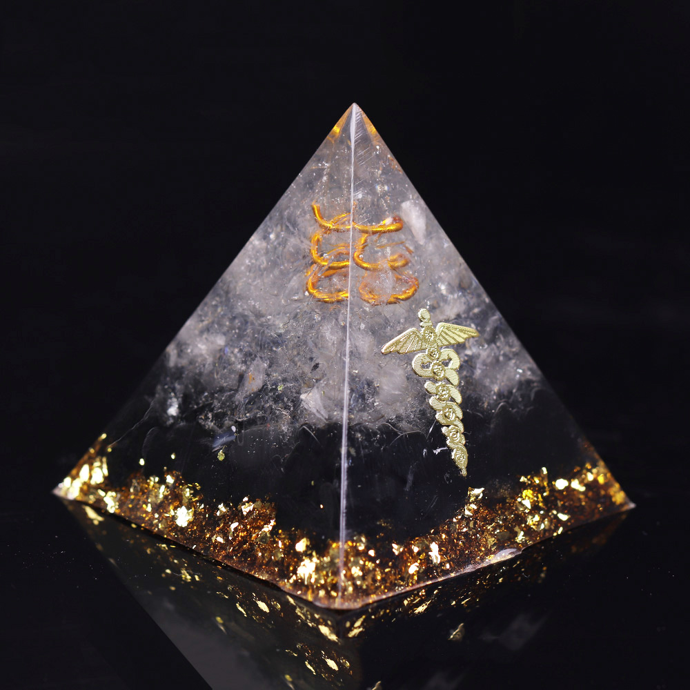 Orgonite Energy Pyramid Decoration Orgone Accumulator Stone