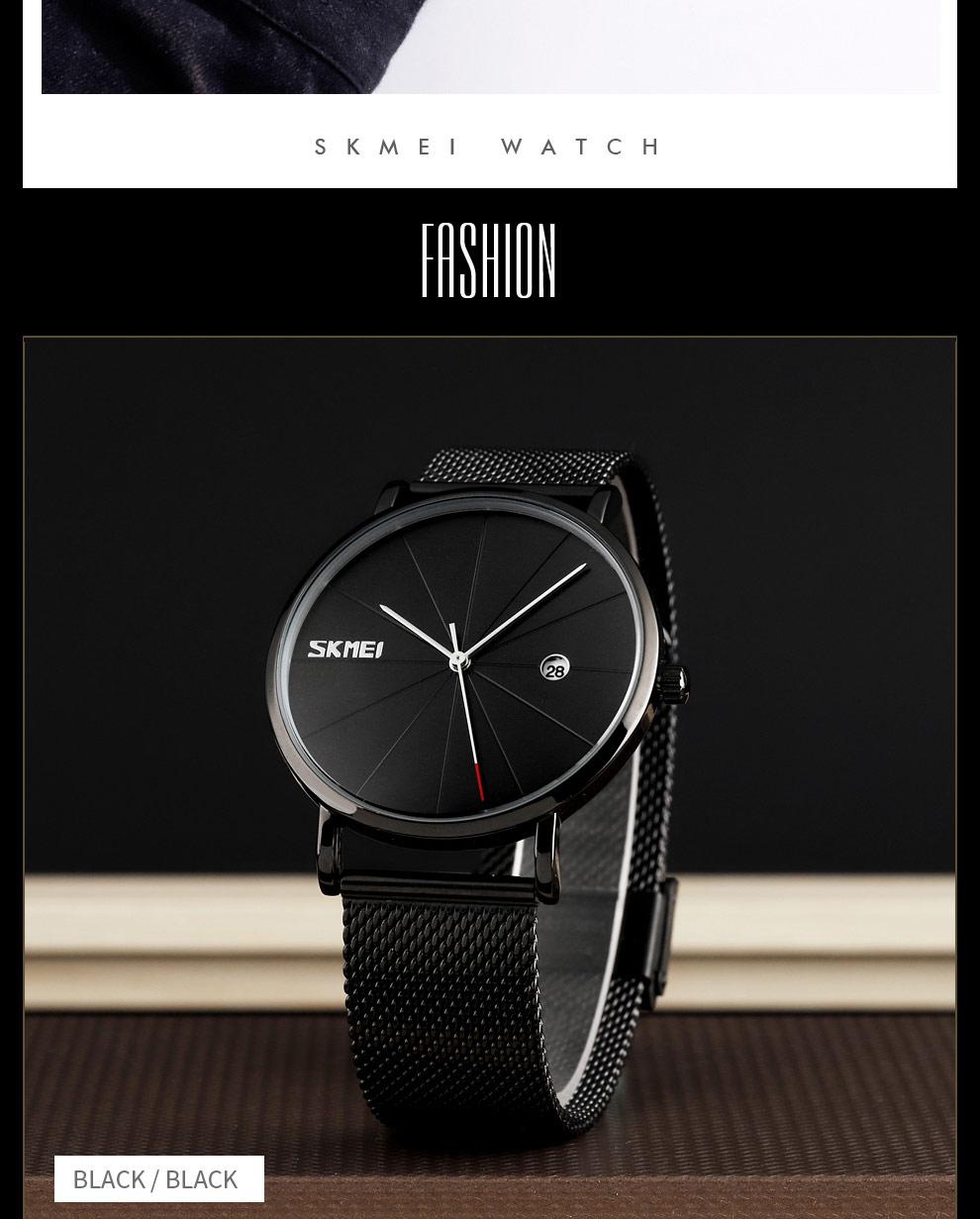 Men's Simple Quartz Bracelet Waterproof Wristwatches