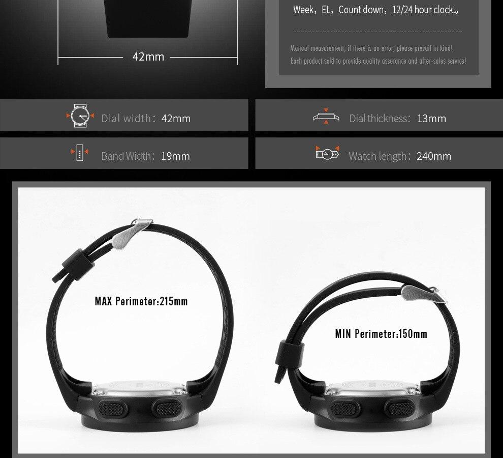 Silicone Band Multifunctional Digital Display Waterproof