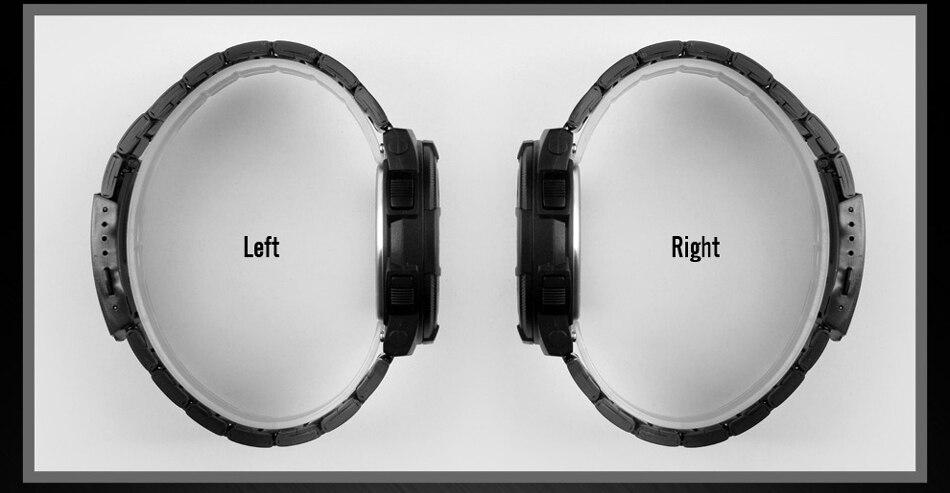 Men's Stainless Steel Strap LED Digital Sport Chronograph