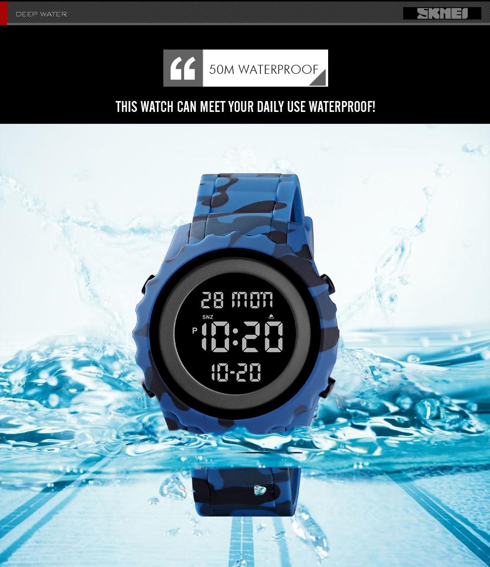 Men's Multi-functional Digital Sport Waterproof Wristwatches
