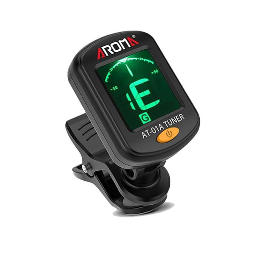 AROMA AT-01A Foldable Clip-on Guitar Tuner Rotatable Universal LCD Display for Chromatic Guitar Bass Ukulele Guitar Accessories