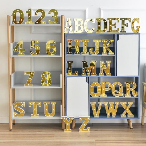 3D Alphabet Letter LED Lights Marquee Sign Number Lamp Decoration Night Light For Party Bedroom Wedding Birthday Christmas Decor