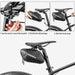 ROCKBROS 1.5L Hard Shell Bike Bag Rainproof Reflective MTB
