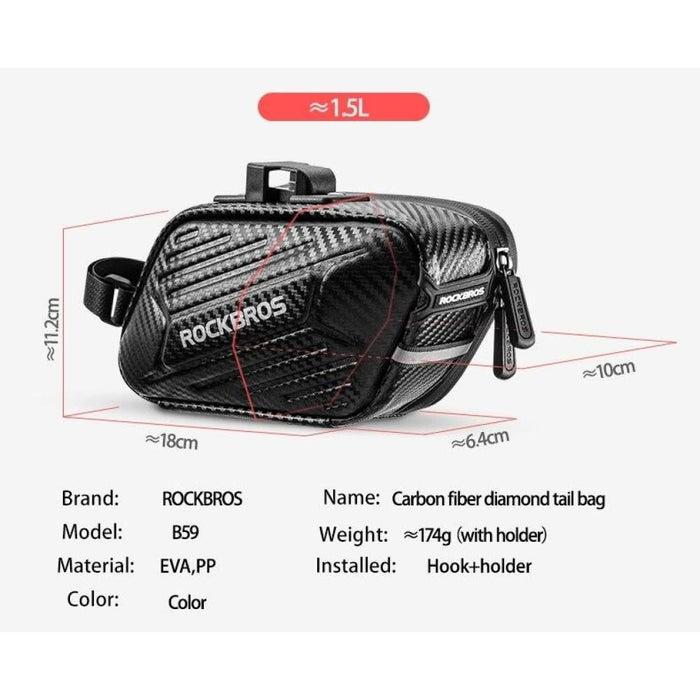 1.5L Hard Shell Portable Hang Light Cycling Bag