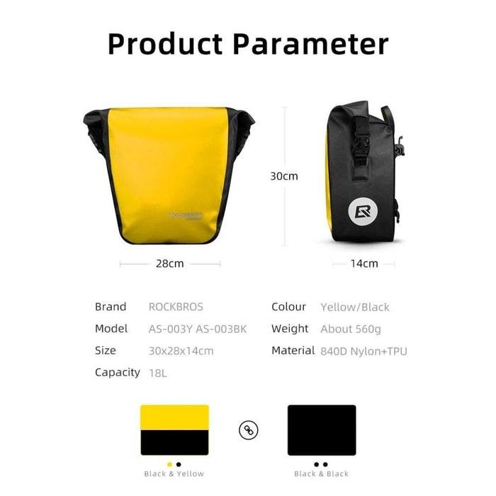 10-18L Portable Waterproof Rear Rack Tail Seat Bag