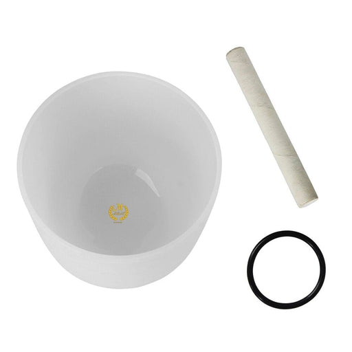 10 Inch Crystal Singing Bowl G Note with Mallet & Rubber O-Ring for Music Making Musical Healing Meditation Yoga Home Decoration
