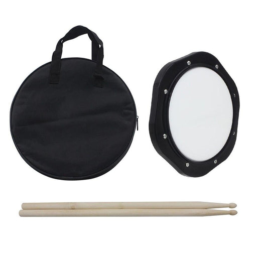 10-Inch Drum Practice Pad with Drumsticks Practice Drum Pad with Carrying Bag for Training Percussion Instruments Accessories
