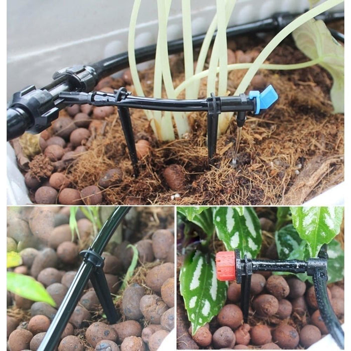 100pc 4/7mm Hose Barbed Tee Joint Drip Irrigation Kits For