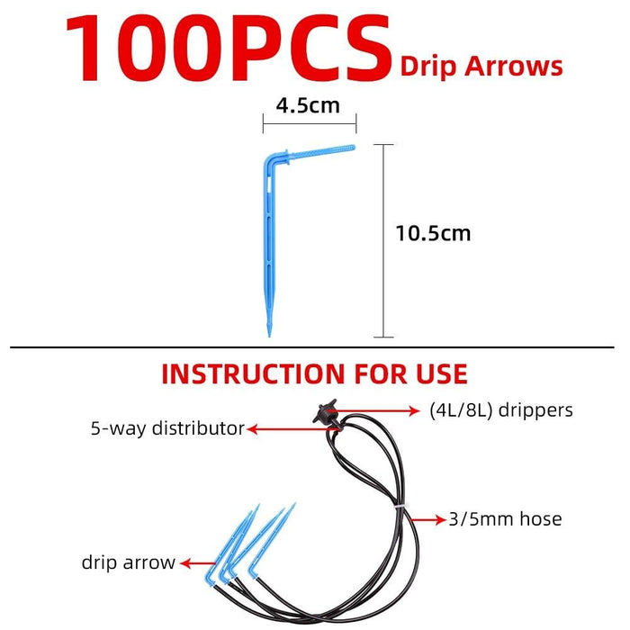 100pcs Drip Arrows Watering Kits For Garden Greenhouses
