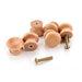 10pcs NAIERDI Handles 2.5X2CM Natural Wooden Cabinet Drawer Wardrobe Knobs Door Pull Kitchen Handle Furniture Hardware