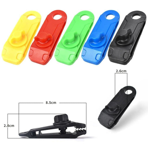 10pcs Outdoor Camping Tent Awning Clamp Gripper Tarp Windproof Nylon Snap Clips Multi-functional Practical Durable Tools