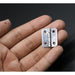 NAIERDI 10pcs 25mm x 20mm Silver Mini Door Hinges Cabinet Drawer Jewellery Box Mini Hinge With Screws For Furniture Hardware