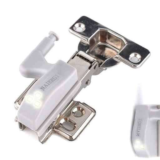 NAIERDI 10PCS Universal LED Cabinet Light Hinge Sensor Light Cupboard Inner Hinges Lamp Kitchen Bedroom Wardrobe Night Light