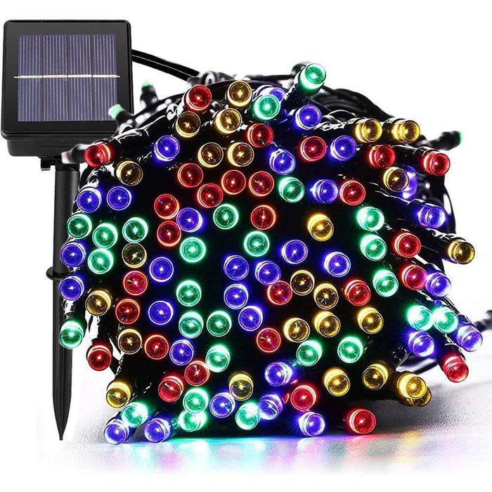 1200 LED Solar Fairy Lights   59.9m lit length   Multicolour   8 Functions goslash fast delivery fast delivery