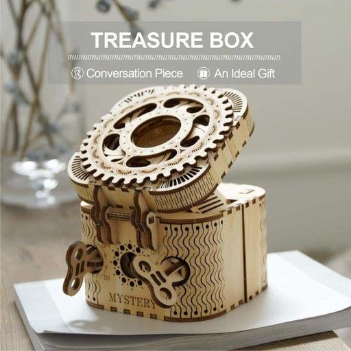 123pcs Creative Diy 3d Treasure Box Wooden Puzzle Game -