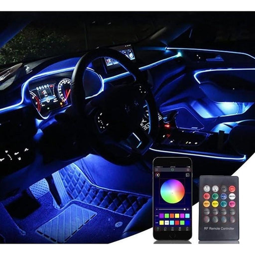 12V Car LED Strip Lights Interior Ambient Light Waterproof Auto Decor Light RGB LED Strip Place At Gap,foot,storage compartment