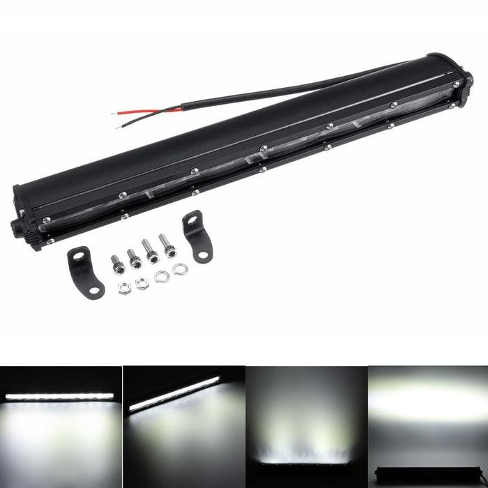13 Inch 120W 6D Single ROW LED Work Light Bar SpotLight Car Truck Driving Lamp