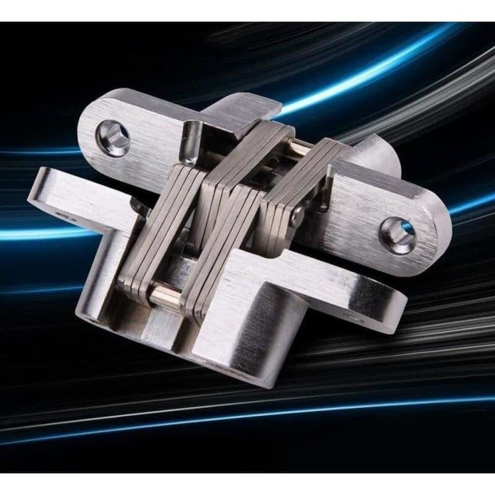 NAIERDI-4013 304 Stainless Steel Hidden Hinges 13x60MM Invisible Concealed Folding Door Hinge With Screw For Furniture Hardware