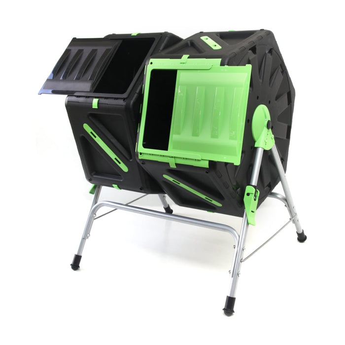 140L Dual Tumbling Composter goslash fast delivery fast delivery