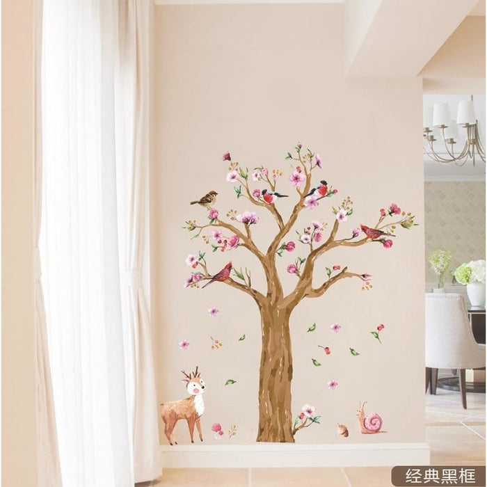 145*170cm Cartoon Animals Tree Wall Sticker for Kids Room