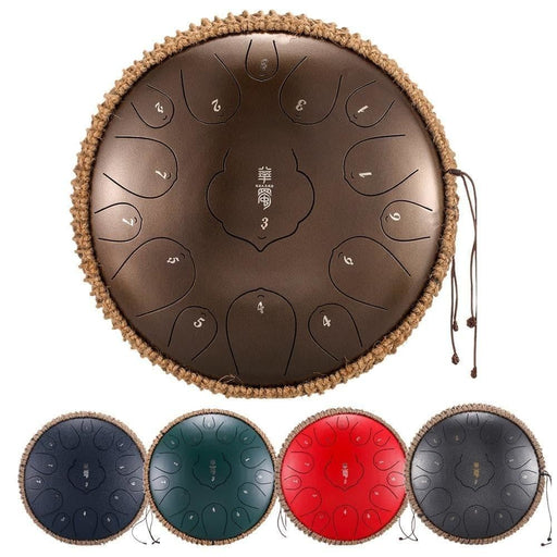 NEW Tongue Drum 15 Notes 12.5 Inch Handpan Drum Tank Drum Chakra Drum for Meditation, Yoga and Zen with Travel Bag