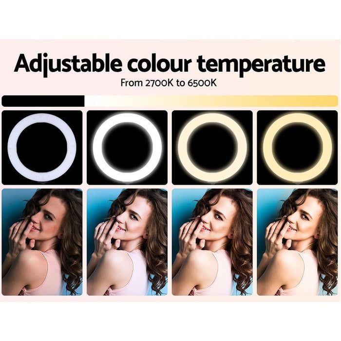 19 Led Ring Light 6500k 5800lm Dimmable Diva with Stand Make