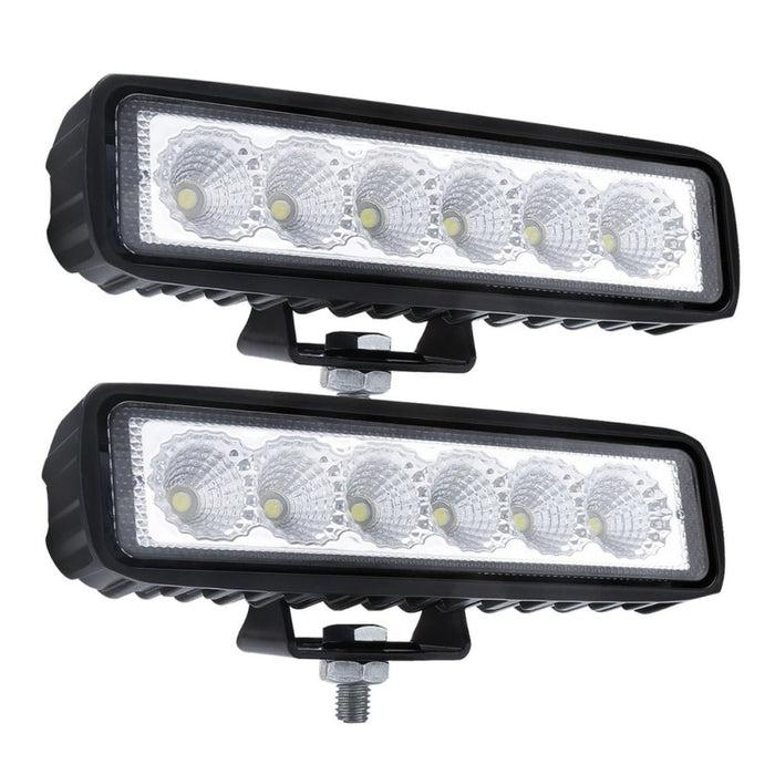 2 X 6inch 18w Led Work Light Bar Driving Lamp Flood Truck