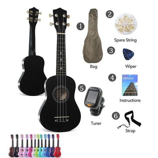 """21"""" Ukulele Soprano Rosewood Acoustic Nylon 4 Strings Ukulele Instrument Mahogany Soprano Student Beginner Ukulele High Quality"""