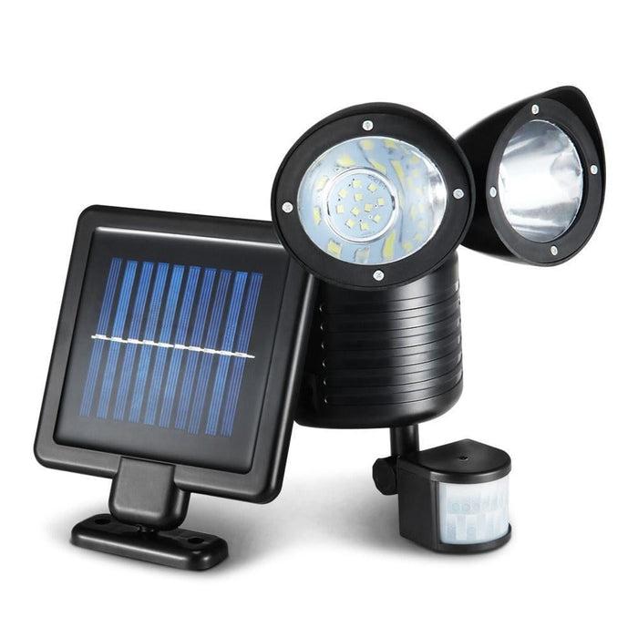 22 Led Solar Powered Dual Flood Lamp - Home & Garden >