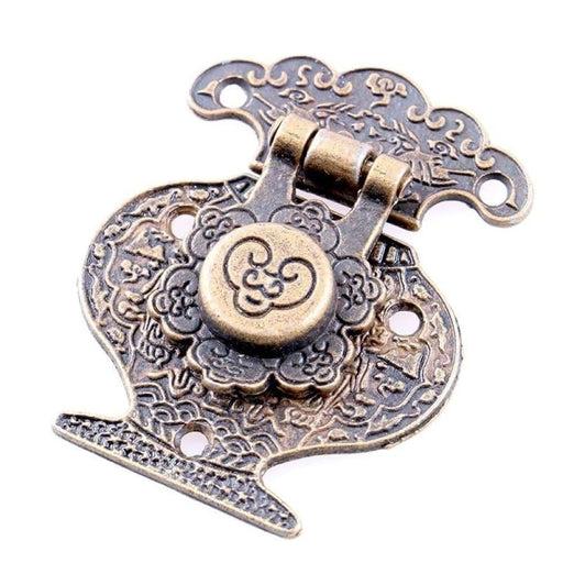 2PCS NAIERDI 51*41mm Antique Bronze Hasp Latch Jewelry Wooden Box Lock Mini Cabinet Buckle Case Locks Decorative Handle Hardware
