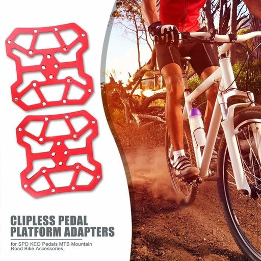 2pcs Aluminum Alloy Bicycle Clipless Pedal Platform Adapters for SPD KEO Pedals MTB Mountain Road Bike Accessories