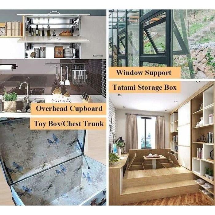 2PCS NAIERDI Cabinet Door Gas Spring Hinges 6-15KG Kitchen Cupboard Hydraulic Hinge Strut Lid Support Box Furniture Hardware