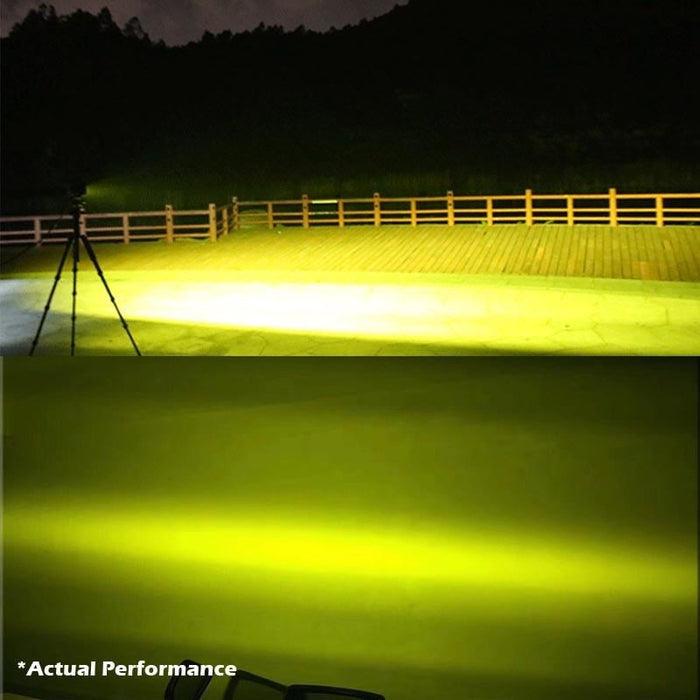 2x 5inch Flood Led Light Bar Offroad Boat Work Driving Fog