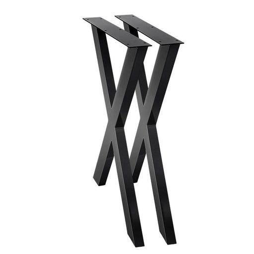 2x Metal Legs Coffee Dining Table Steel Industrial Vintage Bench X Shape 710MM