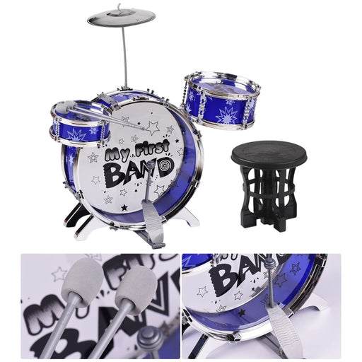 3-Piece Kids Drum Set Children Junior Drums Kit Simulation Jazz Drums Percussion Musical Instrument with Cymbal Drumsticks
