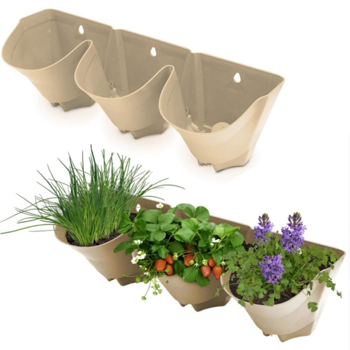 3 Pot Vertical Garden Wall Stacker goslash fast delivery fast delivery
