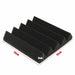 30cmx30cmx5cm Black Acoustic Wedge Foam Tile Sound Absorption Panel