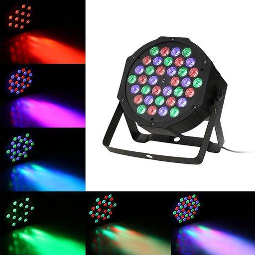 ALIEN 36 LED RGBW DMX 512 Stage Flat Par Lighting Effect DJ Disco Party Holiday Christmas Bar Club Wedding Birthday Show Lights