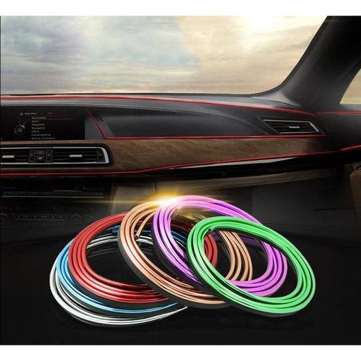 3D Car Styling Interior Accessories Decoration Strip Door Decor Stripe Moulding Trim Dashboard Edge Universal Auto Chrome Strips