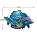 3D Dolphin Sea Scenes Window View Removable Wall Sticker