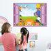 3D Window Cartoon Animals Zoo Wall Sticker Lion Kids Room