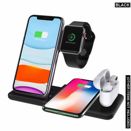 4 in 1 Dual Wireless Charging Station with Foldable Charger