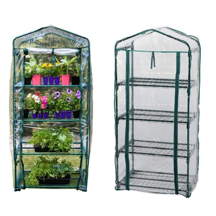 4 Tier Greenhouse with Pvc Cover - Home & Living